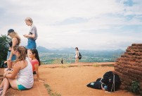 Polly and view from Sigiriya Rock