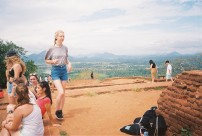 Polly and view from Sigiriya Rock